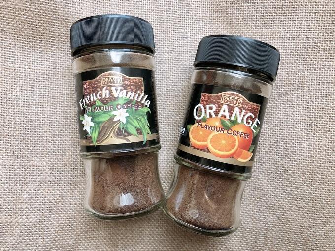 フレンチバニラとオレンジのフレーバーコーヒー
