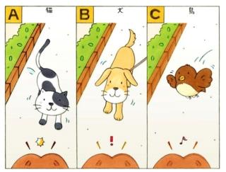 【心理テスト】歩いていると目の前に動物が現れました。それは何の動物?