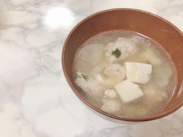 肉団子とお野菜の春雨スープ