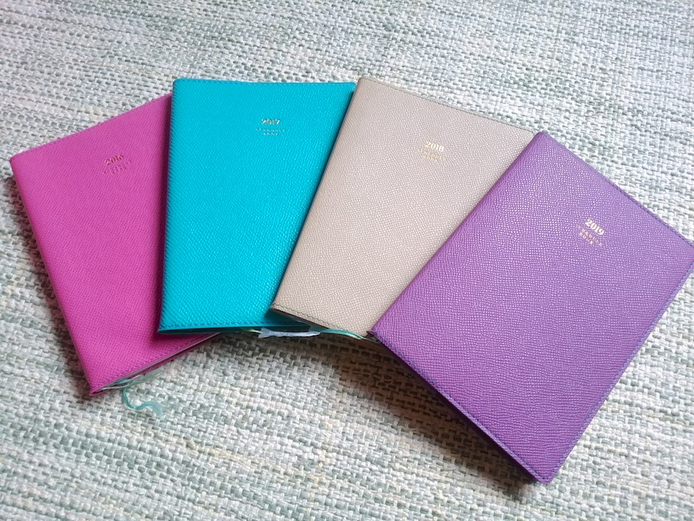 過去の手帳4冊