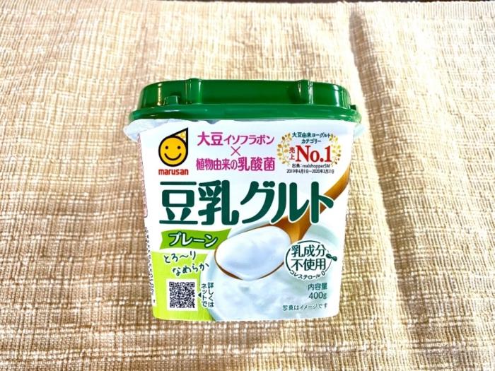 大豆イソフラボン×植物由来の乳酸菌「豆乳グルト」(マルサンアイ)