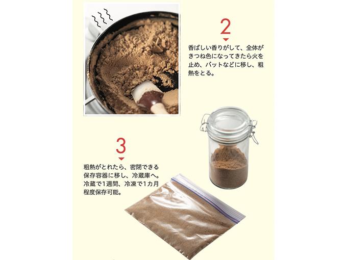 米ぬかパウダーを保存する行程