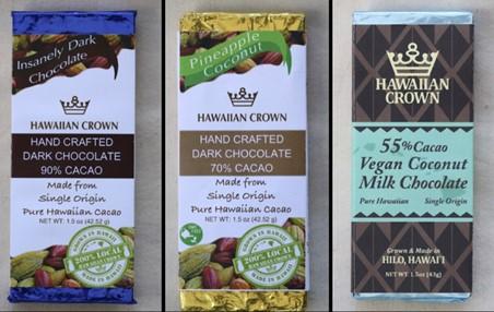 ハワイアン・クラウン・プランテーション&チョコレート・ファクトリーのチョコレート