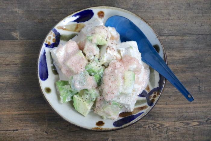 豆腐とアボカドの明太マヨ