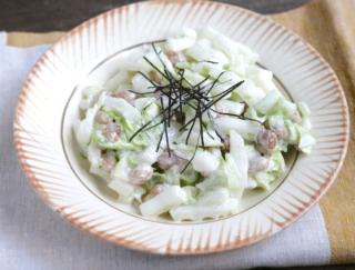 納豆で腸活! やめられない無限サラダ「納豆と白菜のコールスロー」