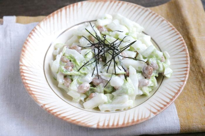 納豆と白菜のコールスロー