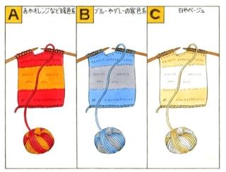 【心理テスト】マフラーを編みます。あなたが選んだカラーは?