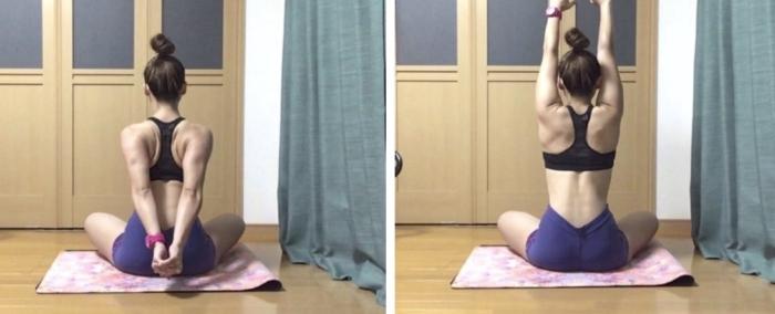 肩甲骨の上方回旋と下方回旋動き