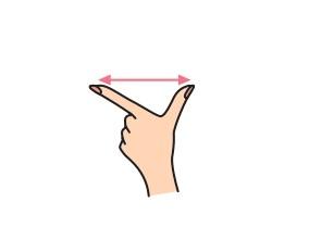 L字形と矢印のイラスト画像