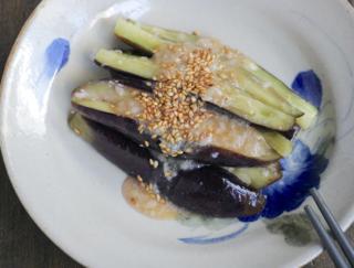 塩麹で腸活!  レンチンで簡単なのにおいしい一品「なすの塩麹ナムル」