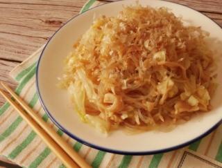 簡単レシピ! 中華麺より低カロリー「鶏ささみと冬キャベツの春雨やきそば風」#今週の作り置き