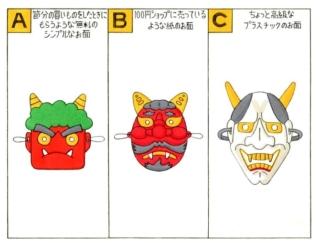 【心理テスト】節分のイベントで、あなたはどんな鬼のお面を選ぶ?