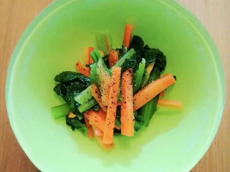 青菜とにんじん画像