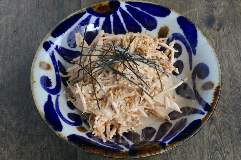 ごぼうの韓国風ごまマヨサラダ