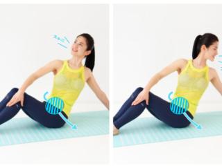 【動画あり】腹筋が苦手でもペタ腹&くびれがつくれる! 1分おしり筋伸ばし「座ったまま腹筋」