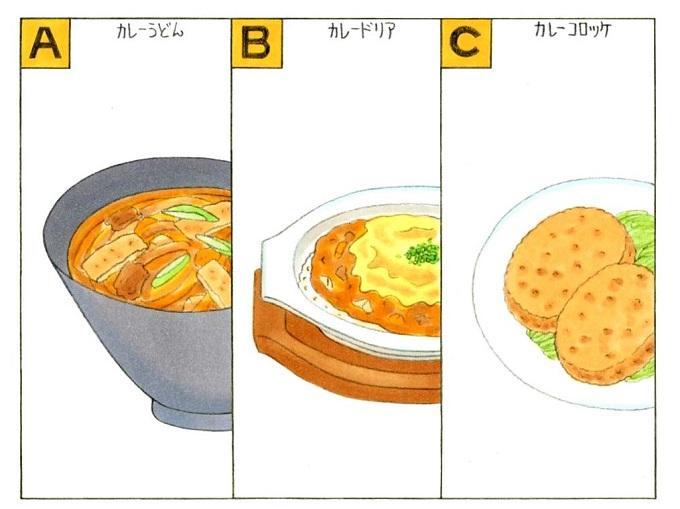 カレーのリメイク料理のイラスト