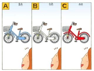 【心理テスト】家の前に自転車が置いてあります。その自転車は何色だった?