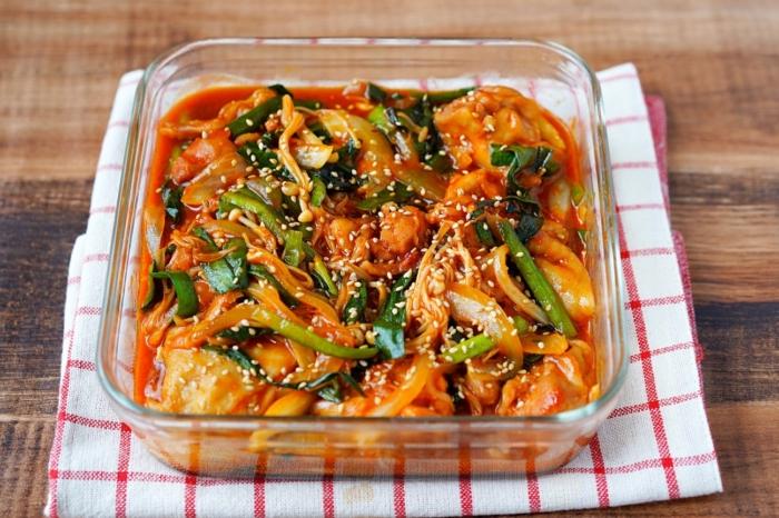 レンジで簡単☆野菜たっぷりダッカルビ