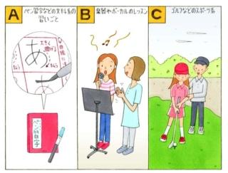 【心理テスト】次の3つのうち、あなたがやってみたい習いごとはどれ?