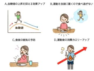 【ダイエットチョイス!】「食後30分以内にライトな運動」は、なぜいいの?~EICO式ダイエットのコツ(49)~