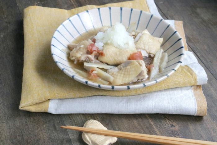 鶏肉とごぼうの梅みぞれ煮