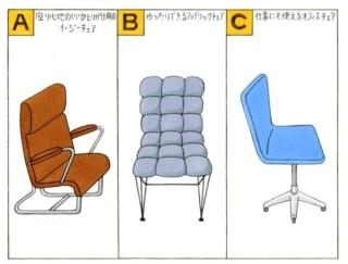 【心理テスト】イスを買います。あなたが選んだのは、どんなデザイン?