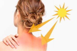日射しをうけている女性の画像