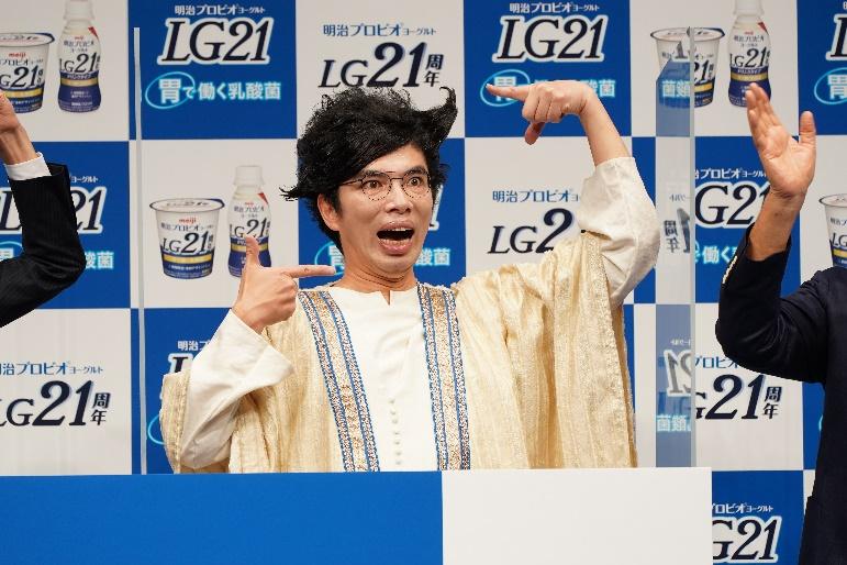 胃人のキャラクターとして登場した片桐仁さん