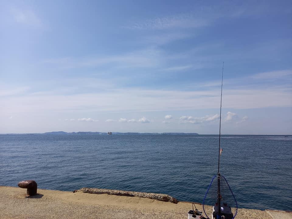 防堤海釣り