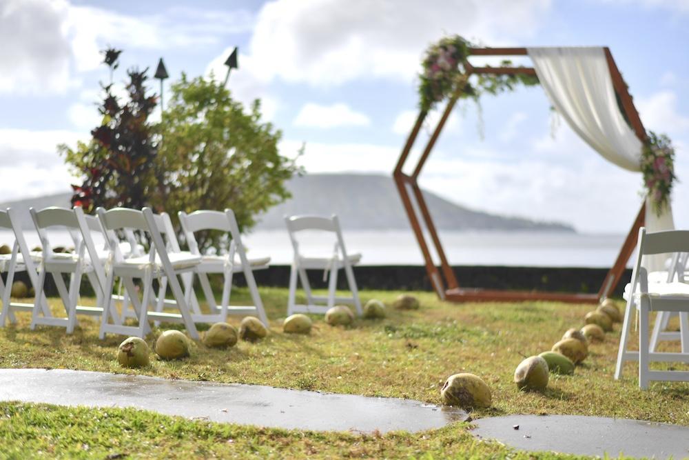 ハワイの挙式参列風景