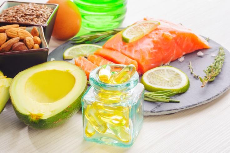 不飽和脂肪酸の食材など画像