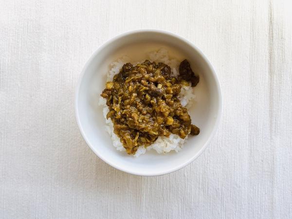 大豆ミートのひき肉タイプで作ったキーマカレー