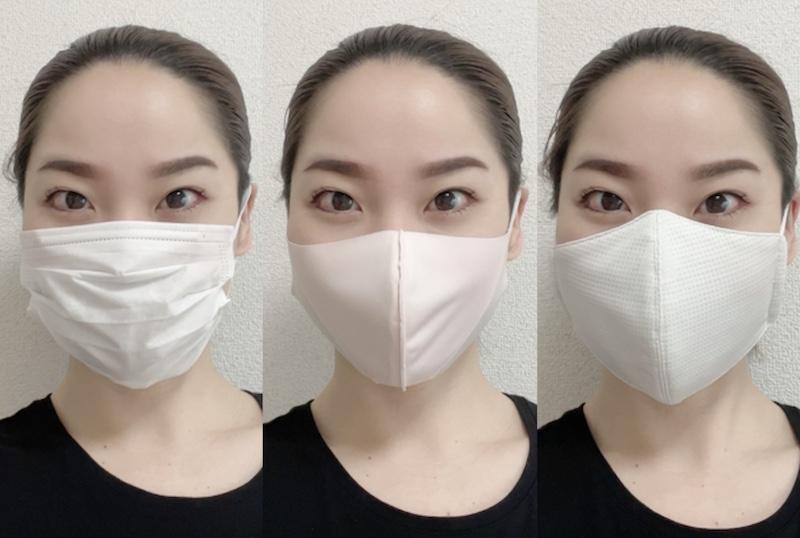 装着時のマスクの比較
