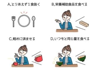 【ダイエットチョイス!】お昼の12時。あんまりお腹が空いていないあなたがとりがちな行動は?~EICO式ダイエットのコツ(65)~