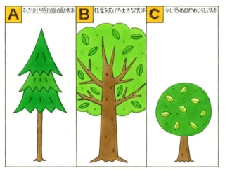 【心理テスト】目の前に1本の木があります。それはどんな形だった?