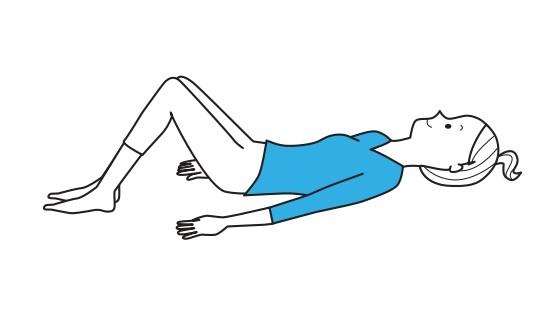 ひざを立てているイラスト画像