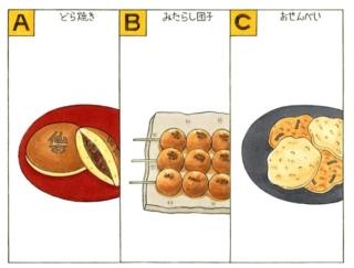 【心理テスト】あなたが今食べたい和菓子は、次のうちどれ?