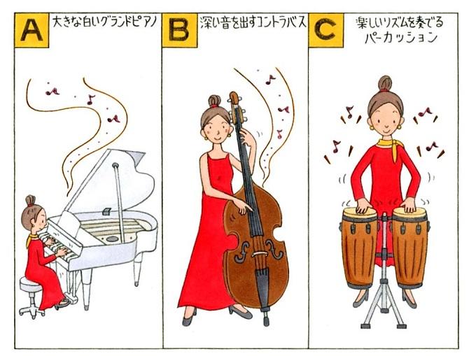 楽器を演奏している人のイラスト