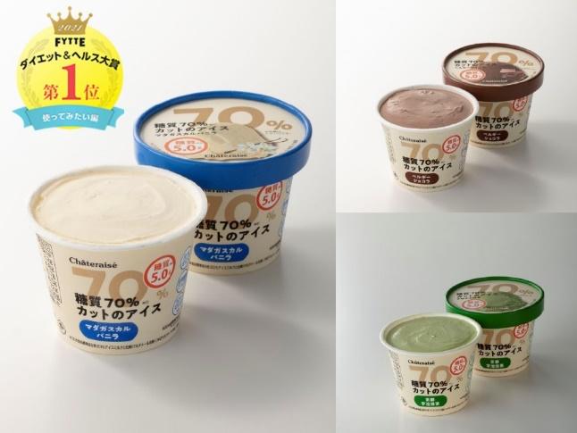 糖質70%カットのアイスシリーズ商品画像