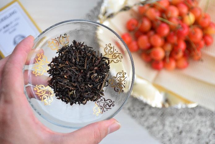 ダージリンの茶葉のアップ