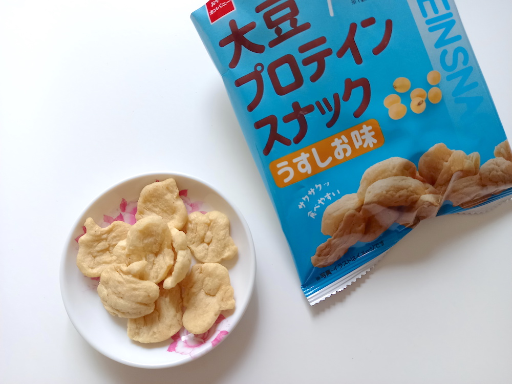 大豆プロテインスナック、うすしお味の中身