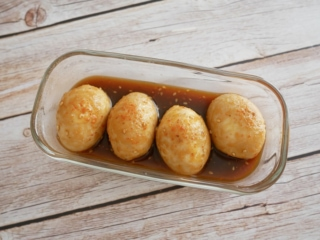 焼き肉のタレを使って簡単絶品♪「ピリ辛スタミナ味玉」#今日の作り置き