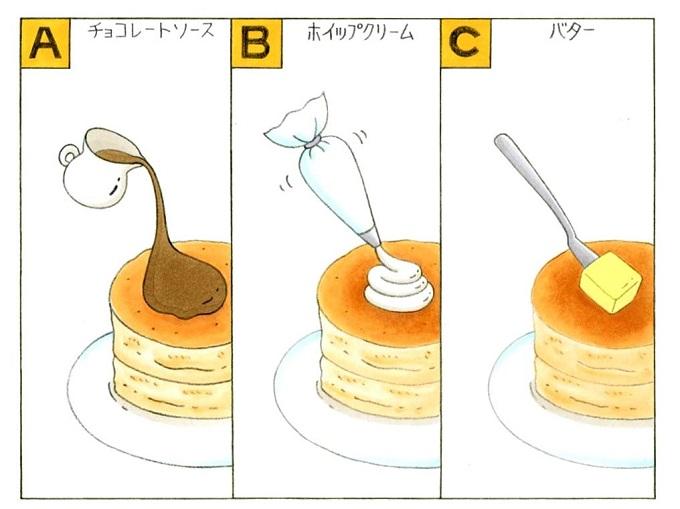 ホットケーキのイラスト