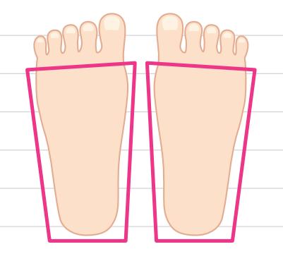 四角い足イラスト画像