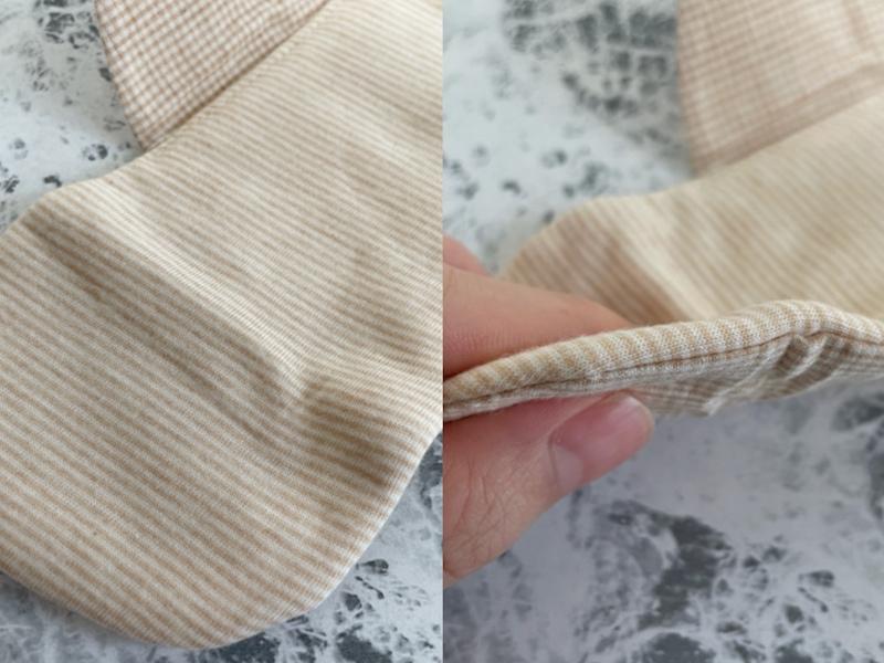 無印良品 布ナプキンの厚みをチェック