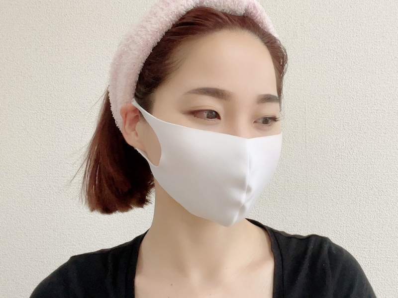 マスクをつけたキュート顔の完成