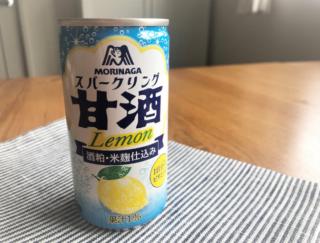 気になって飲んでみました、さわやかな甘酒☆「スパークリング甘酒レモン」 #Omezaトーク