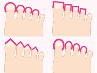 足指の形画像