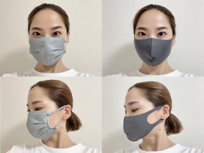 夏用マスクを着用している寒川さん