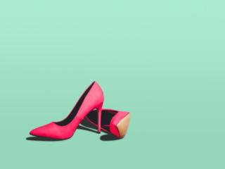 ピンクのハイヒール画像